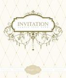 De kaartmalplaatje van de uitnodiging Royalty-vrije Stock Afbeelding
