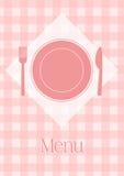 De kaartmalplaatje van het menu Stock Afbeeldingen