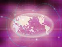 De kaartmededeling van de wereld Stock Fotografie