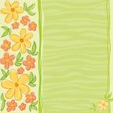 De kaartontwerp van bloemen Stock Afbeelding