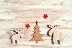 De kaartontwerp van de Kerstmisgroet in sjofele elegante stijl Royalty-vrije Stock Afbeelding