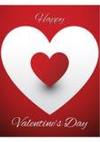 De kaartontwerp van de valentijnskaartengroet Stock Foto