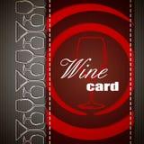 De kaartontwerp van de wijn Stock Foto's