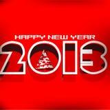 De kaartontwerp van het nieuwjaar 2013 Royalty-vrije Stock Afbeelding