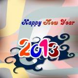 De kaartontwerp van het nieuwjaar 2013 Stock Afbeeldingen