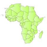 De kaartoverzicht van Afrika van staten Royalty-vrije Stock Fotografie