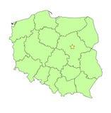 De kaartoverzicht van Polen stock illustratie