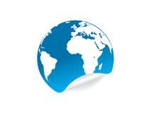 De kaartpictogram van de wereld Royalty-vrije Stock Foto's