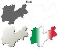 De kaartreeks van het Trento lege gedetailleerde overzicht Royalty-vrije Stock Afbeeldingen