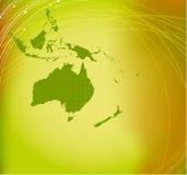 De kaartsilhouet van Australië Stock Fotografie
