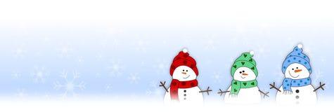 De kaartSneeuwman van de winter Stock Foto