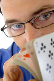 De kaartspeler van Shuffler Royalty-vrije Stock Afbeelding