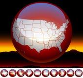 De kaartsymbool van de Verenigde Staten van Amerika Stock Foto