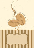 De kaartuitnodiging of menu van de koffie Stock Foto