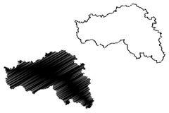 De kaartvector van Belgorodoblast Royalty-vrije Illustratie