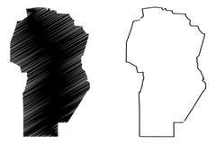De kaartvector van Cordoba vector illustratie