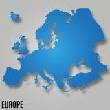 DE KAARTvector VAN EUROPA Stock Fotografie