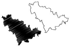 De kaartvector van de Jilinprovincie vector illustratie