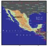 De kaartVector van Mexico royalty-vrije illustratie