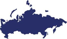 De kaartvector van Rusland stock illustratie