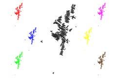 De kaartvector van Shetland-eilanden vector illustratie