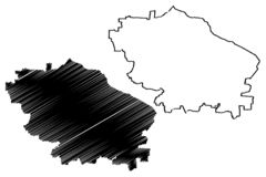 De kaartvector van Stavropolkrai Royalty-vrije Illustratie
