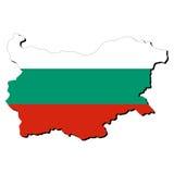 De kaartvlag van Bulgarije Royalty-vrije Stock Foto