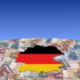 De kaartvlag van Duitsland op euro vector illustratie