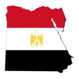 De kaartvlag van Egypte stock illustratie