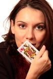 De vrouw van de damekaart royalty-vrije stock foto's