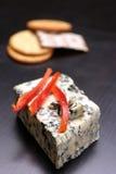 De kaas en de crackers van Herbed Stock Afbeelding