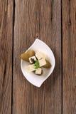 De kaas en de groenten in het zuur van feta Royalty-vrije Stock Foto