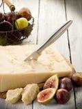 De kaas en fig. van de parmezaanse kaas Royalty-vrije Stock Foto