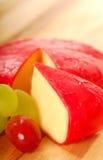 De kaas van de cheddar met fruit royalty-vrije stock foto