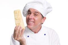 De kaas van de kok. stock afbeeldingen
