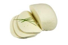 De Kaas van de Melk van Slowaakse Schapen, plak en geïsoleerdi Stock Foto's