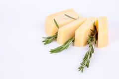 De kaas van de parmezaanse kaas met rozemarijn royalty-vrije stock afbeeldingen