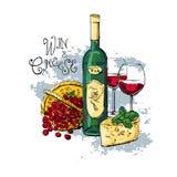 De kaas van de wijndruif royalty-vrije illustratie