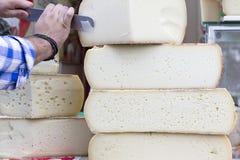 De kaas van Graviera Stock Foto