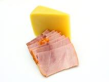 De kaas van het stuk met een vlees Royalty-vrije Stock Fotografie