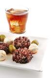 De kaas van Mozarella en donkere rijst Royalty-vrije Stock Afbeeldingen