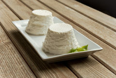 De kaas van Ricotta stock foto's