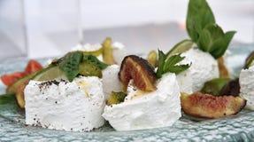 De kaas van Ricotta met tomaat Royalty-vrije Stock Foto