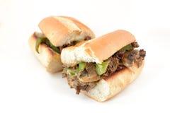 De kaaslapje vlees van Philly stock fotografie