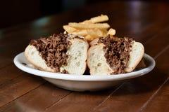 De kaaslapje vlees van Philly Royalty-vrije Stock Fotografie