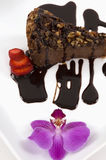 De Kaastaart van de chocolade Stock Fotografie
