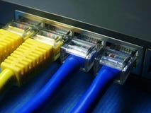 De kabel & de hub van het netwerk. Royalty-vrije Stock Foto's