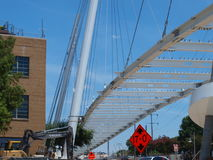 De kabel bleef Katy Trail Pedestrian Bridge Royalty-vrije Stock Foto