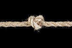 De kabel bond een knoop vast Stock Afbeelding