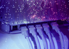 De kabel en de hub van het netwerk Royalty-vrije Stock Foto's